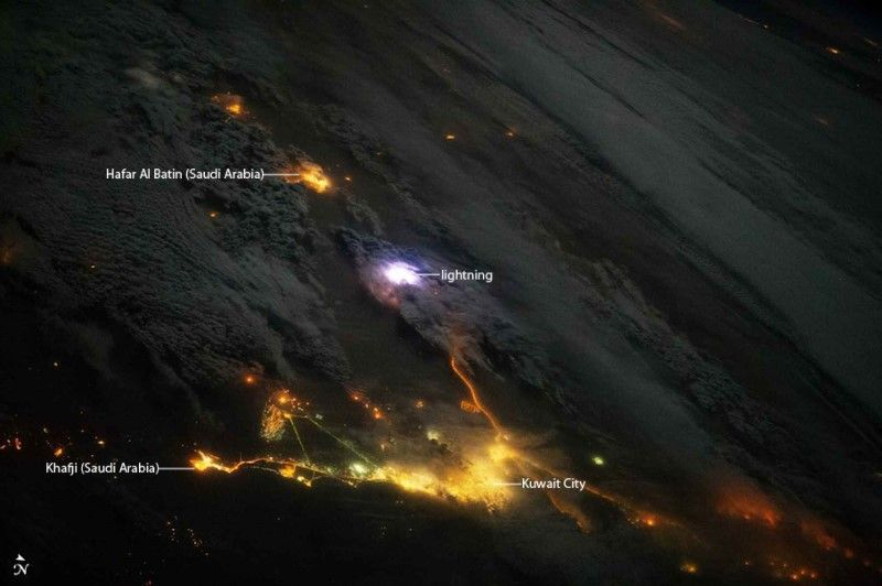BIG PIC: LIGHTNING AS SEEN FROM THE INTERNATIONAL SPACE STATION 5