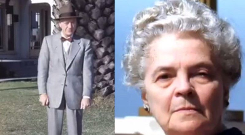 Bernard and Hilda Blair Ray. (The video spells his name Berard. Bragalia spells it Bernerd). This is the couple who are believed to have owned the slides in question. The slides were found in their house after they had passed away. (Credit: Tercermilenio.tv)