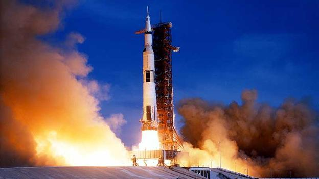 No turning back On 26 July 1971 Apollo 15 blasted in orbit from the Kennedy Space Center, at Cape Canaveral, Florida. (Copyright: Nasa)