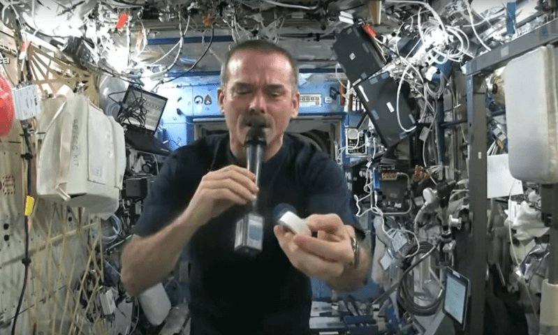 What happens when you squeeze a wet rag in space? Find out!