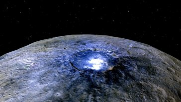 THOSE BRIGHT SPOTS ON DWARF PLANET CERES LEAD TO UNEXPECTED DISCOVERY