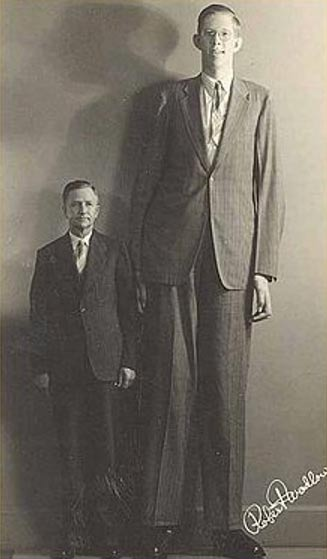 Robert Pershing Wadlow, tallest person in recorded history, was of a giant height due to hyperplasia of his pituitary gland.