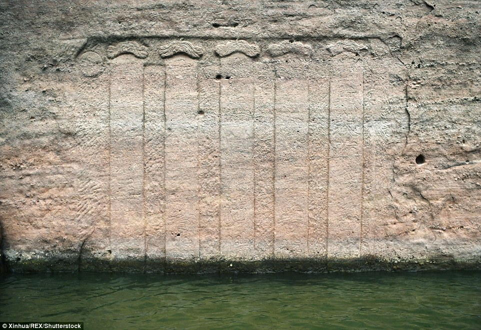 Ancient relics:In addition to the statue, villagers also found an imperial decree carved into the cliff face in Zuixian Lake