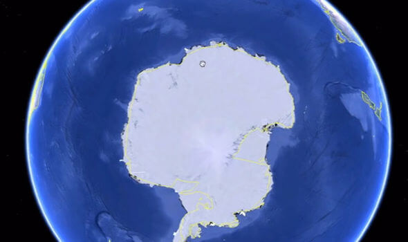 The image can be found by zooming into this part of Antarctica on Google Earth