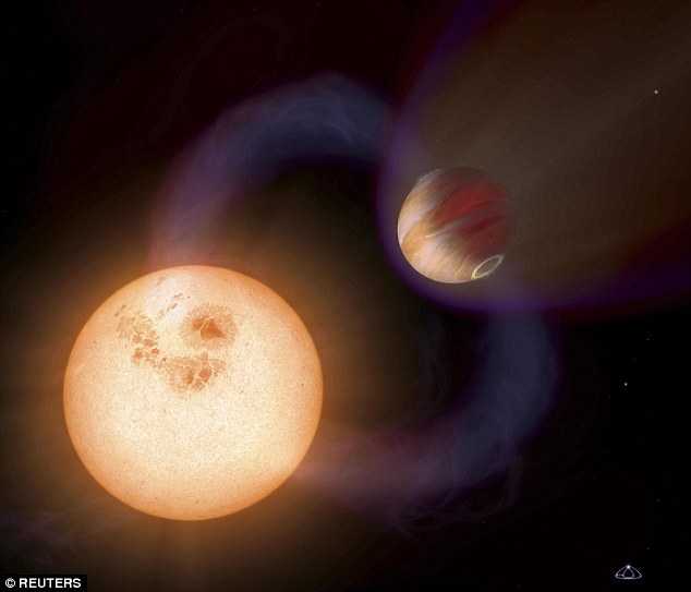 Researchers say future studies of nearby red dwarf stars could help to determine whether life on Earth is premature, or if low-mass stars create an environment too harsh for future life. An artist's impression of an exoplanet and a red dwarf is pictured