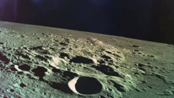 This is the last image Israel's lunar lander took before it crashed into the moon