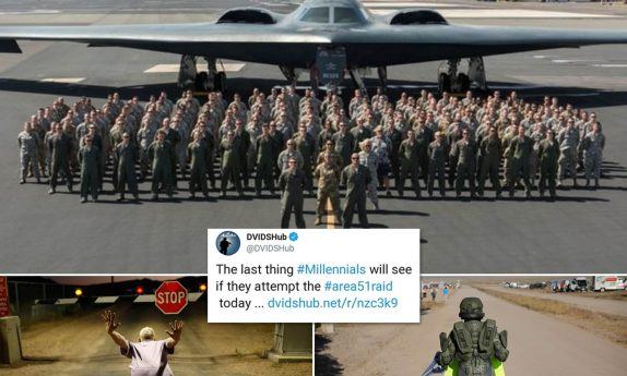 Area 51 raid: US military apologises for tweet about stealth-bombing 'millennials'