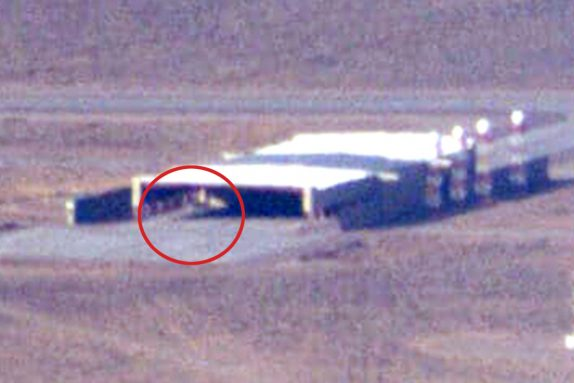 Mysterious triangular shape spotted in Area 51 hangar as spy agencies set to reveal UFO secrets in next 6 months
